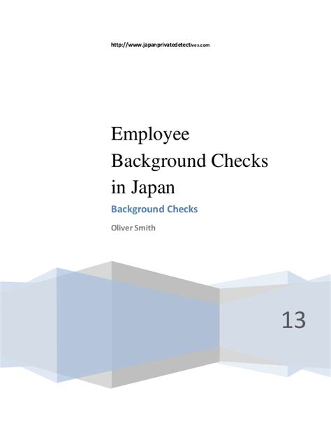 How For Employment Background Check How Employee Background Checks Work In Japan
