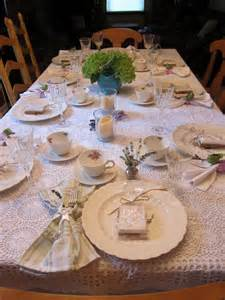 bridal tea table setting