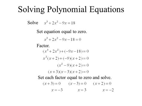 Solving Polynomial Equations Worksheet Answers by Solving Polynomial Equations Worksheet Worksheets For