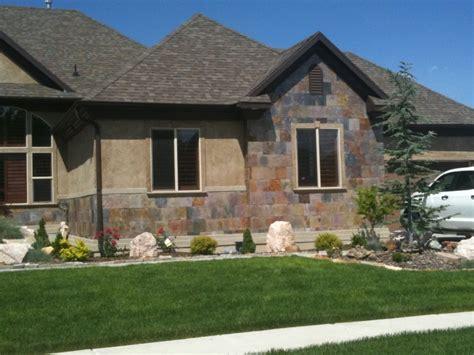 Outdoor Wainscoting Heavy Slate Tile As An Exterior Wainscot Masonry