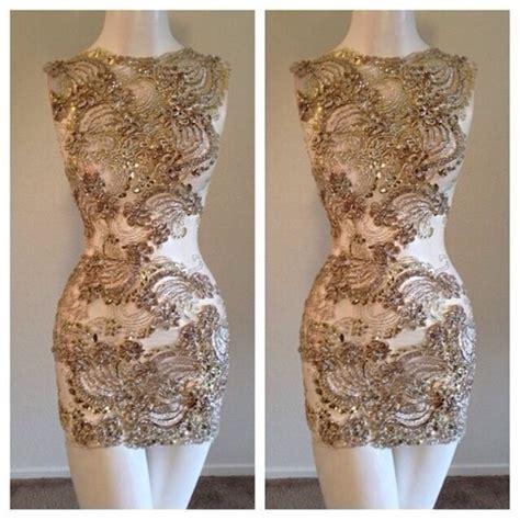 Vannesa Dress Series 3 Original Brand By Rara Busana dress sequin dress mini dress beige dress gold