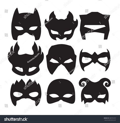 Masker Carakter masks character black stock vector