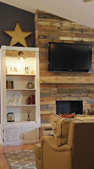 Pallet Wall Fireplace by 17 Best Ideas About Pallet Fireplace On Wood