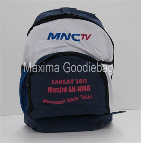 Goodie Bag Ransel Sablon 11 Mnc Maxima Ransel Perdana Goodie Bag