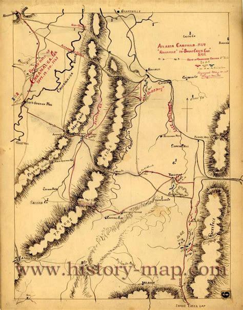 County Ga Civil Search Civil War Map Walker County Maps Diagrams