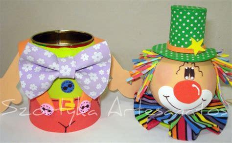 decorar latas con goma eva latita decorada payasito manualidades en goma eva y foami