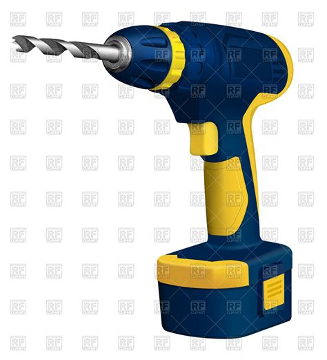drill clipart realistic cordless drill royalty free vector clip