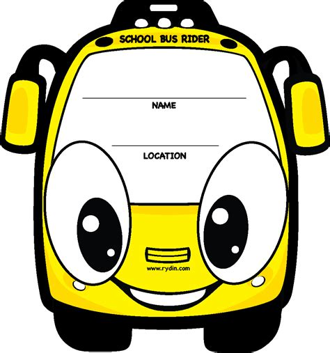 Backpack Tags School Bus Rider Rydin Com Car Rider Tags Template