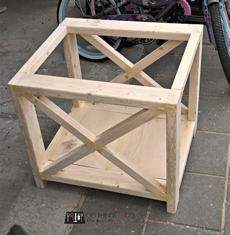how to build a side table diy rustic x side table 100 things 2 do