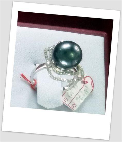 Cincin Pearl 1 handmade gold ring with south sea pearl ctr 124 harga