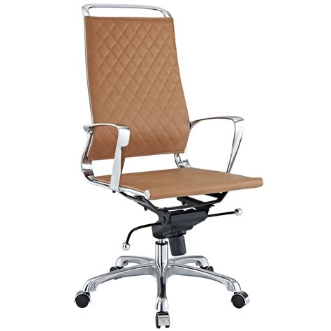 leather and chrome office chairs vibe modern high back leather adjustable office chair w