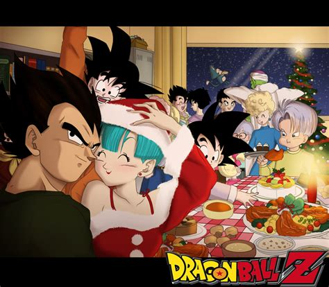 dragon ball z christmas wallpaper merry dbz christmas by pallottili on deviantart