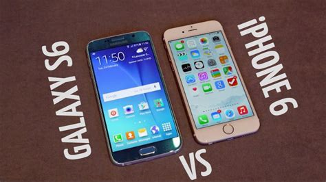 Samsung S6 Vs Iphone 6 samsung galaxy s6 vs apple iphone 6 tech and