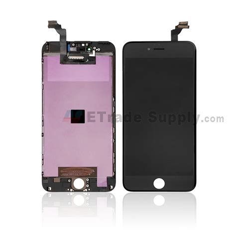 Screen Iphone 6 Plus Pecah apple iphone 6 plus lcd and digitizer assembly with frame black etrade supply