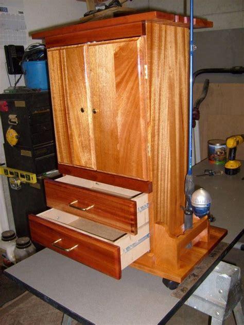 fishing rod storage cabinet fishing tackle storage by jsepe123 lumberjocks com