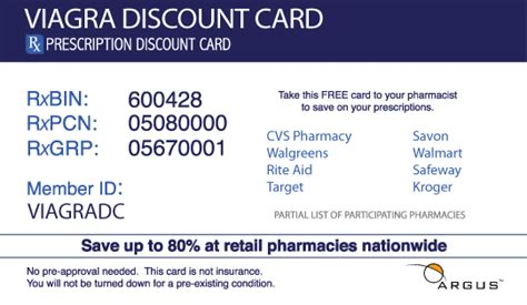 Discount Coupon For Viagra by Viagra Discount Card