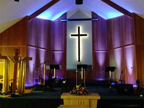 Church Stage Lighting by Traditional Church Stage Design Studio Design