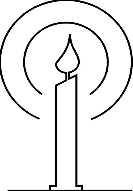 Baptismal Candle Outline by Birthday Candle Coloring Page Vitlt