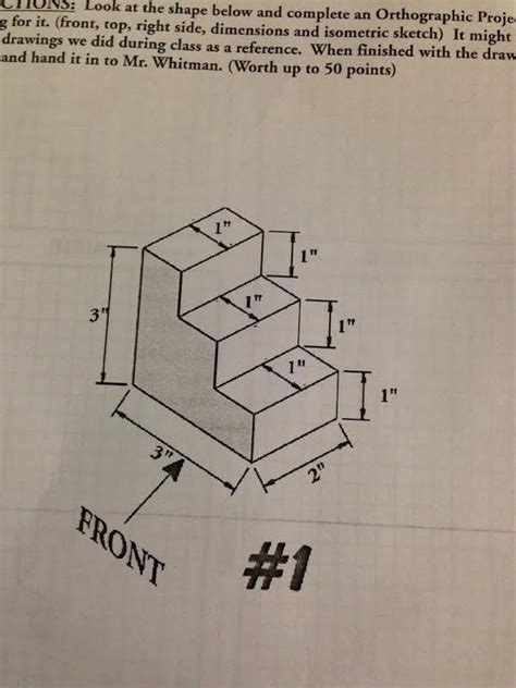 9 Drawings For Projection by Orthographic Projection Barnett Drawing