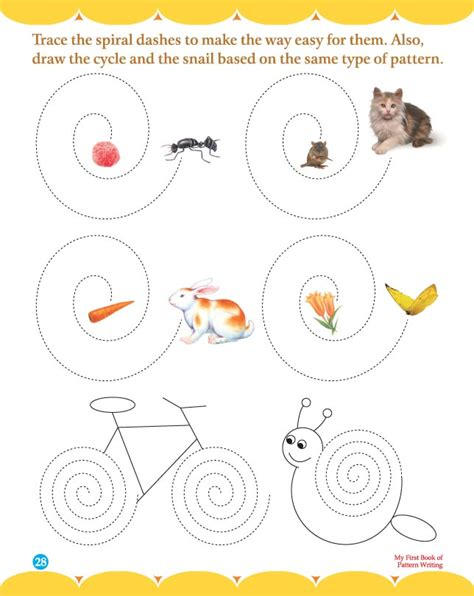 pattern writing worksheets for toddlers trace the spiral dashes download free trace the spiral