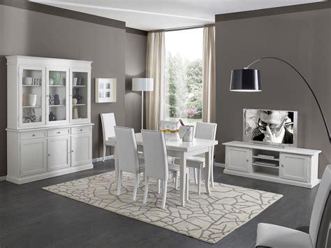 mobili per soggiorno in legno soggiorno in legno bianco con tavolo sedie mobile tv e