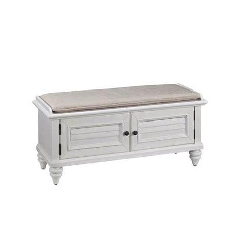 White Upholstered Storage Bench Bermuda Brushed White 47 25 Inch Wide Upholstered Storage