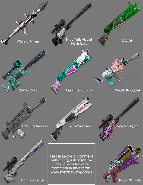fortnite who made it fan made fortnite gun skins fortnitebr