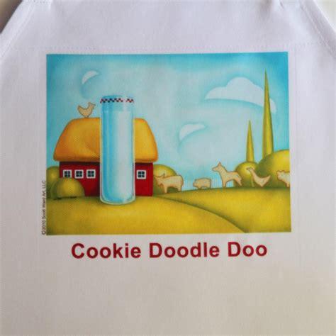 doodle doo cookie doodle doo apron