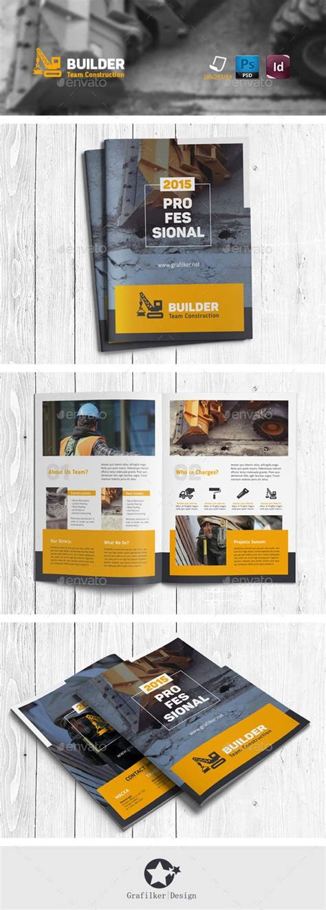 construction brochure templates design construction and brochures on