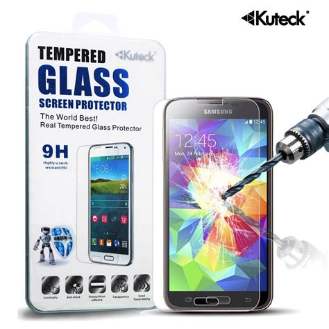 Tempered Glass Premium kuteck ultra slim premium real tempered glass front screen protector guard ebay