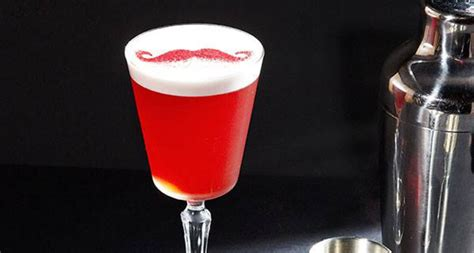 Moustache Drink gin cocktail pink mustache indaily