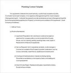 Plumbing Service Agreement Template 7 plumbing contract templates free word pdf format