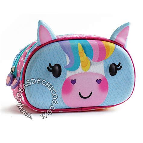 imagenes uñas unicornio cartuchera zoo bags 2 cierres unicornio