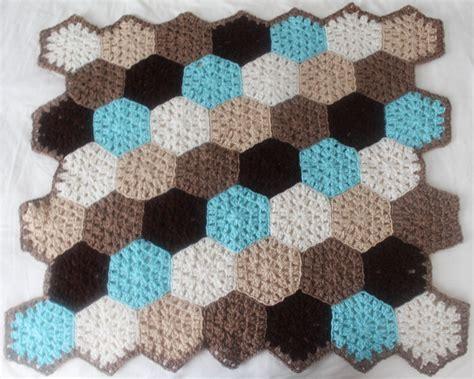 crochet pattern x free crochet pattern hexagon honeycomb stroller blanket