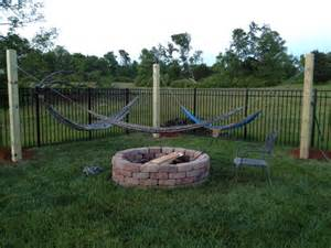 Hammock Posts 6x6 Posts For Hammocks With Quickset Concrete Home Our