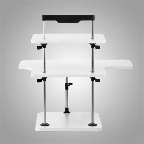 desktop adjustable stand up desk 3 tier adjustable computer standing desk light weight