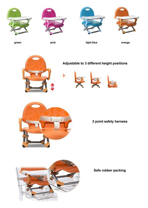 Chicco Pocket Snack Seat chicco pocket snack orange baby booster chair portable light weight booster seat ebay