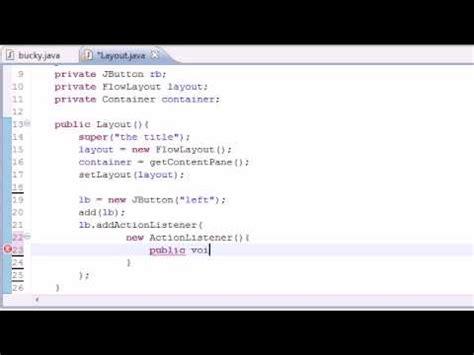 Flow Layout Java Program   java swing gui tutorial 19 boxlayout doovi