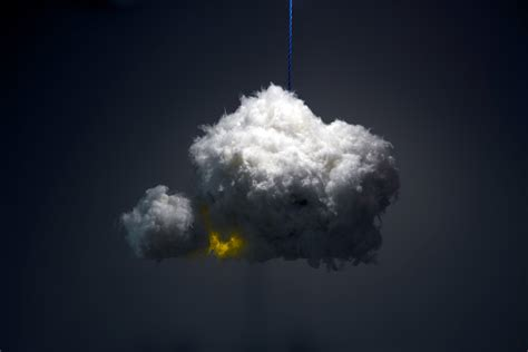 Light Cloud by Cloud Is An Audiovisual Fixture That Simulates A Real