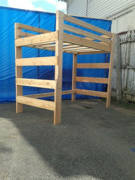 heavy duty solid wood queen size loft bed   lb