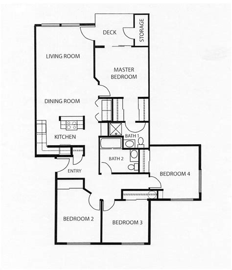 4 bedroom apartment floor plans pricing floor plans