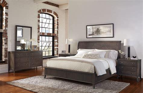 urban bedroom furniture urban retreat sumatra wood sleigh bedroom set from hekman furniture coleman furniture