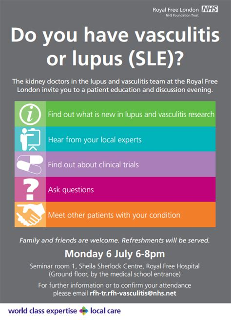 vasculitis or lupus sle patient education and discussion