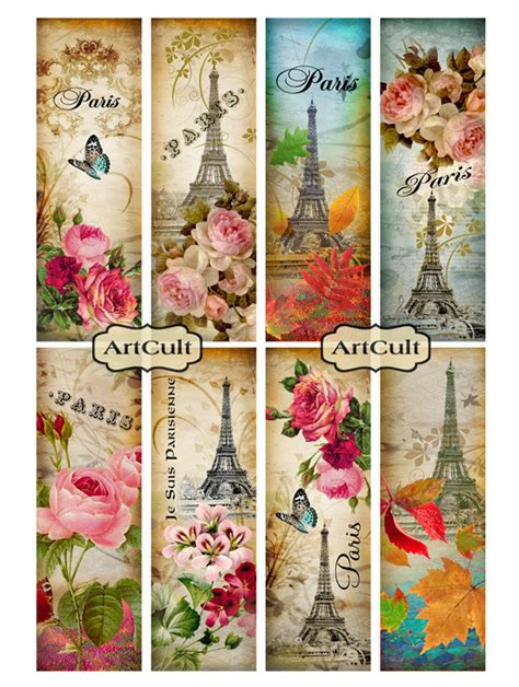 free printable name bookmarks paris bookmarks free printables pinterest