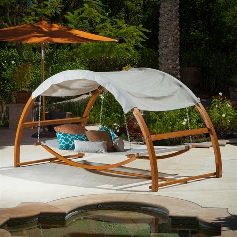 patio swing bed with canopy the tonga hanging swing bed with canopy is a perfect