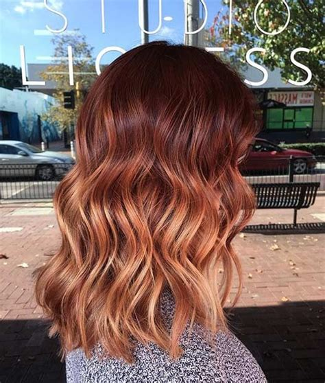 The 25 Best Copper Balayage Ideas On Copper Balayage Ombre Hair Copper 25 Copper Balayage Hair Ideas For Fall Copper Balayage Bob And Lob
