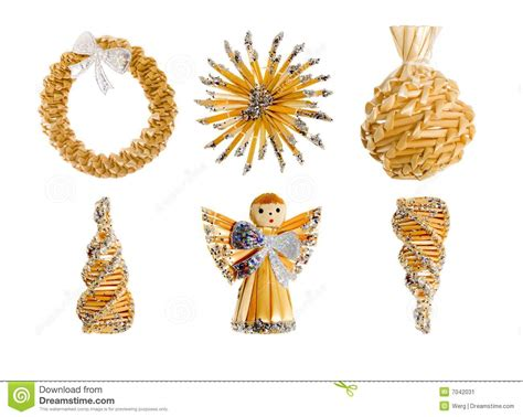 straw christmas decorations stock image image 7042031