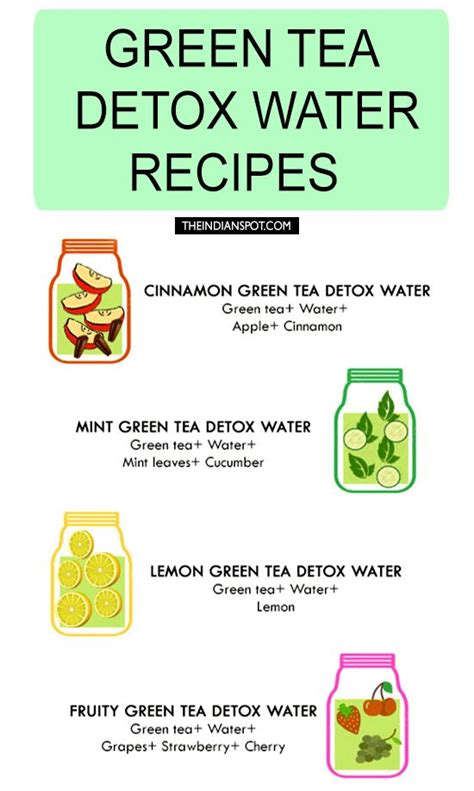 Green Tea Detox Cleanse by Green Tea Detox Water Recipes For Cleansing And Weight