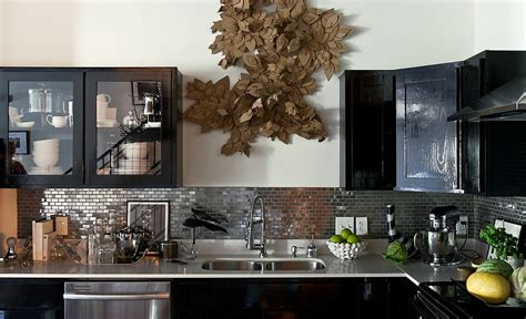 cool backsplash sparkling trend 25 gorgeous kitchens with a bright metallic glint
