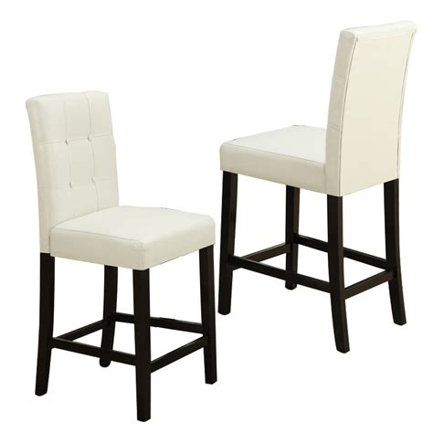 Bar Height Dining Chairs 2 Pc Dining High Counter Height Side Chair Bar Stool 24 Quot H Faux Leather In Ebay